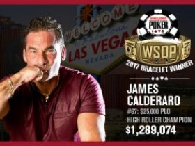 James Calderaro赢下WSOP奥马哈冠军赛收入129万美元