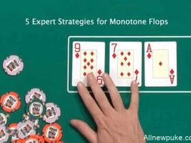 蜗牛扑克:单色翻牌面的五个专家级策略