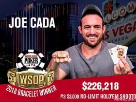 蜗牛扑克:Joe Cada赢得2018 WSOP第3项赛事冠军