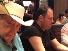 蜗牛扑克:Gus Hansen晒扑克教父Doyle Brunson打牌的照片