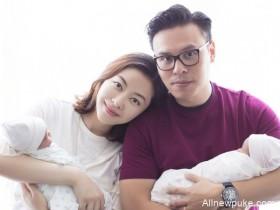 【蜗牛扑克】熊黛林首次公开双胞胎女儿样貌, 皮肤白五官像爸爸
