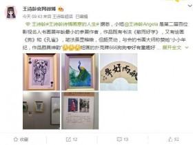 【蜗牛扑克】王诗龄进入名人画家堂 一幅画作能叫出12万的高价