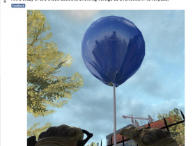 【蜗牛电竞】游乐园气球惊现殒命大厦倒影,是bug还是彩蛋?