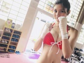 【蜗牛扑克】日本甜美正妹HAYASHI YUME 化身拳击手来势凶猛