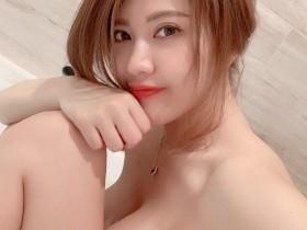 【蜗牛扑克】台湾性感美女主播刘庭羽Doris 巨乳正妹浴室辣照引骚动
