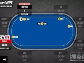 【蜗牛扑克】锦标赛中持有小对对短码全下的处理
