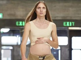 【蜗牛扑克】伦敦时装周怀孕男模走秀 孕夫时装秀引骚动