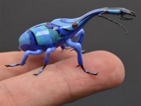 【蜗牛扑克】玻璃昆虫雕塑 虫子雕塑作品栩栩如生