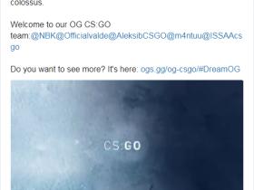 【蜗牛电竞】官宣:OG正式成立CSGO分部,Aleksib和NBK-领军