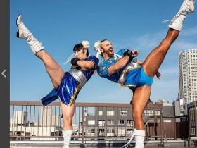 【蜗牛扑克】胡须女Ladybeard搭档才木玲佳 cosplay春丽组成灵长类最强偶像