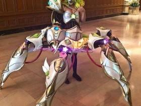 【蜗牛扑克】AX动画展览会 玩家Cosplay《英雄联盟》乌尔加特的星光少女造型造型受欢迎
