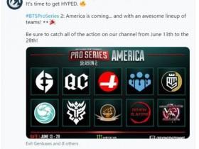 【蜗牛电竞】BTS宣布在美洲举办BTS Pro系列第二赛季