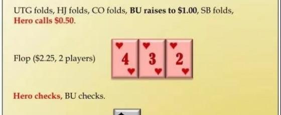 【蜗牛扑克】德州扑克里击中天同花应该如何游戏?
