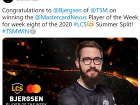 【蜗牛电竞】LCS第八周总结:Bjergsen强势表现当选周最佳选手