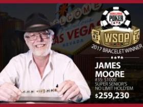 James Moore蝉联WSOP超级长者锦标赛冠军