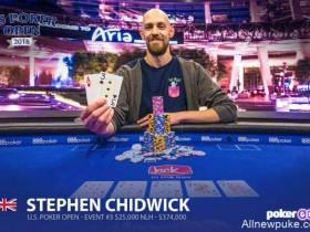 蜗牛扑克:Stephen Chidwick连续取得$25,000买入赛事冠军