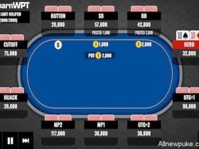 蜗牛扑克牌局分析:枪口位置16BB的TT要不要翻前全压?