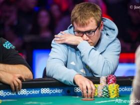 【蜗牛扑克】2018 WSOP主赛事9进6: Michael Dyer领跑全局