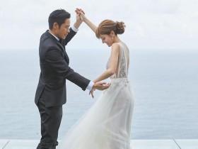【蜗牛扑克】郑嘉颖陈凯琳举行婚礼 女方婚纱照小腹凸起明显