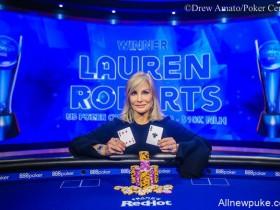 【蜗牛扑克】Lauren Roberts赢得美国扑克公开赛第三项赛事$10,000 NLH冠军!