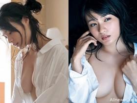 【蜗牛扑克】星名美津纪衬衫侧门大开 H杯胸乳全露让你冰冷新年热血沸腾