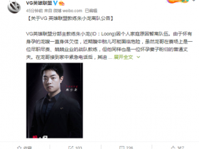 【蜗牛电竞】VG战队宣布主教练朱小龙离队,青训教练顶替