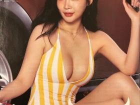 【蜗牛扑克】韩国模特美女박청아 丰满微肉女人抱着舒服