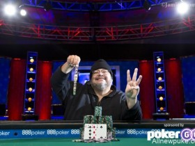 【蜗牛扑克】WSOP奥马哈史上第一人,Frankie O'Dell收获第三条奥马哈高低牌金手链