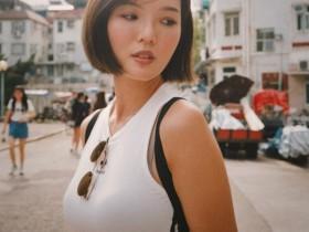 【蜗牛扑克】香港短发正妹Karen 性感吊带背心诱惑路人