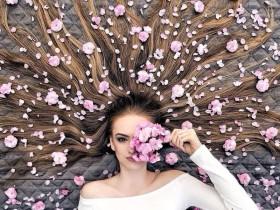 """【蜗牛扑克】真人版""""长发公主""""Krissy Elisabeth """"魔发美女""""创意美发造型拍照"""