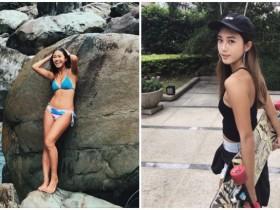 【蜗牛扑克】玩滑板的妹子身材都超好!阳光笑容搭配紧致身材化身台湾最美的风景!