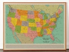 【蜗牛扑克】一千首歌名字绘制美国地图 Spotify歌单61小时才能听完