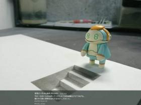 【蜗牛扑克】错视3D画 翻开笔记本进入三次元的空间