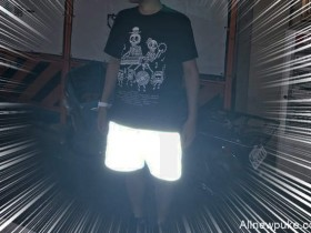 【蜗牛扑克】SOULLAND反光短裤 夜晚行走反光效果强大