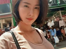 【蜗牛扑克】短发美女Sathankorn 泰妹气质迷人拍写真超上镜