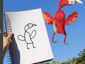 【蜗牛扑克】神操作把涂鸦画变成真照片 天马行空涂鸦作品已经出写真集