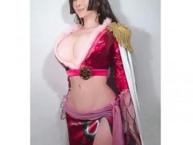 【蜗牛扑克】叶美香cosplay《航海王》蛇姬 二次元身材高度还原角色