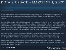 【蜗牛电竞】Dota2客户端更新:未来将会在游戏内测试改动