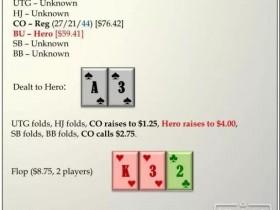 【蜗牛扑克】德州扑克中你敢不敢用底对ALL IN诈唬?