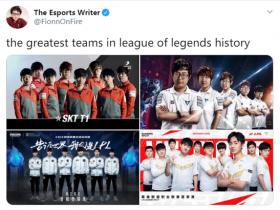 【蜗牛电竞】ESPN记者发推:联盟史上四大强队 V5榜上有名