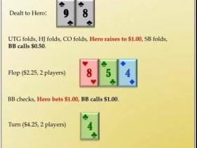 【蜗牛扑克】这手89s在河牌圈应该如何行动?-德州扑克牌局分析