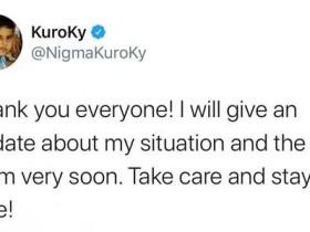 【蜗牛电竞】KKy发推表示:将尽快分享自己和队伍的消息