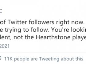 【蜗牛电竞】《炉石传说》职业选手推特被误认为川普 仅因为名字一致