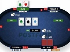 【蜗牛扑克】德州扑克由三条公共牌和口袋对子组成的葫芦