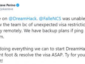 【蜗牛电竞】由于签证问题 FalleN或将错过DH公开赛