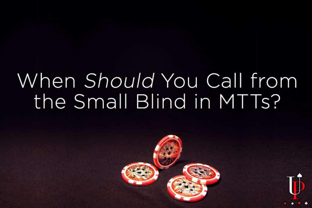 蜗牛扑克:处于MTT小盲位时该什么时候冷跟?
