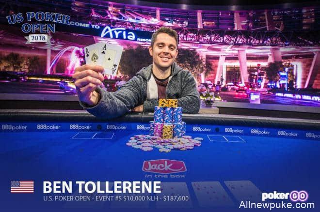 蜗牛扑克:Ben Tollerene取得美国扑克公开赛第五项赛事冠军