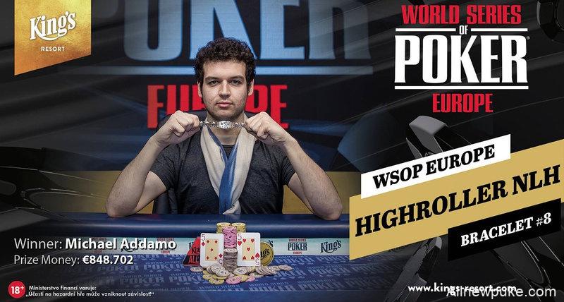 【蜗牛扑克】Michael Addamo:又一位在今年取得两条WSOP金手链的玩家
