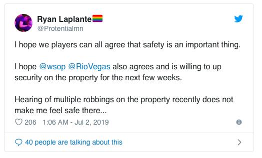 【蜗牛扑克】WSOP回应扑克玩家人身安全问题