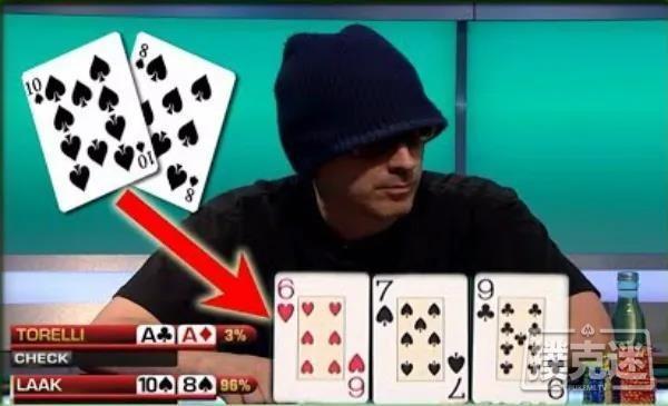 【蜗牛扑克】翻牌发出潮湿连牌怎么打